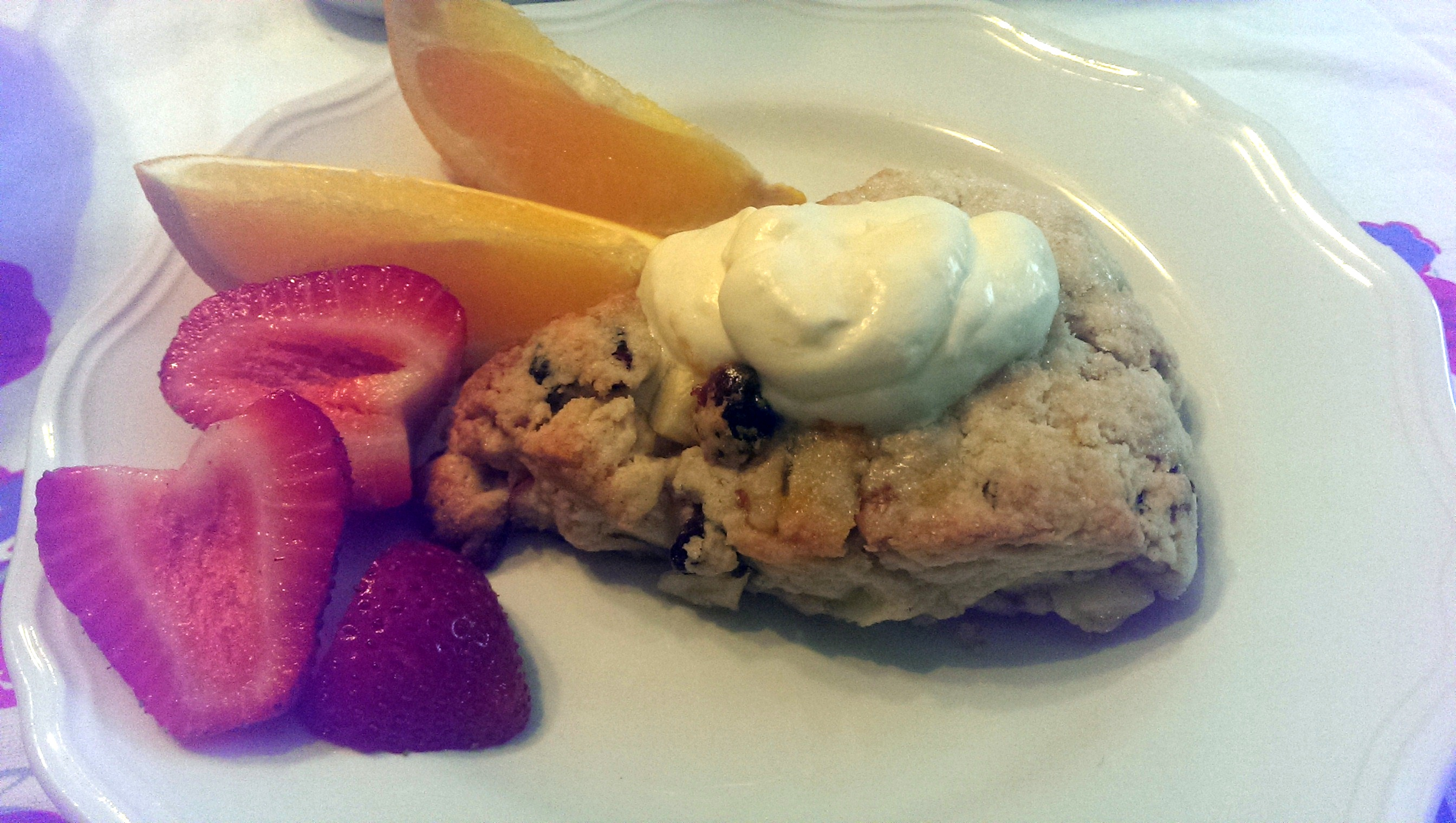 Cranberry, Apple and Walnut Scones