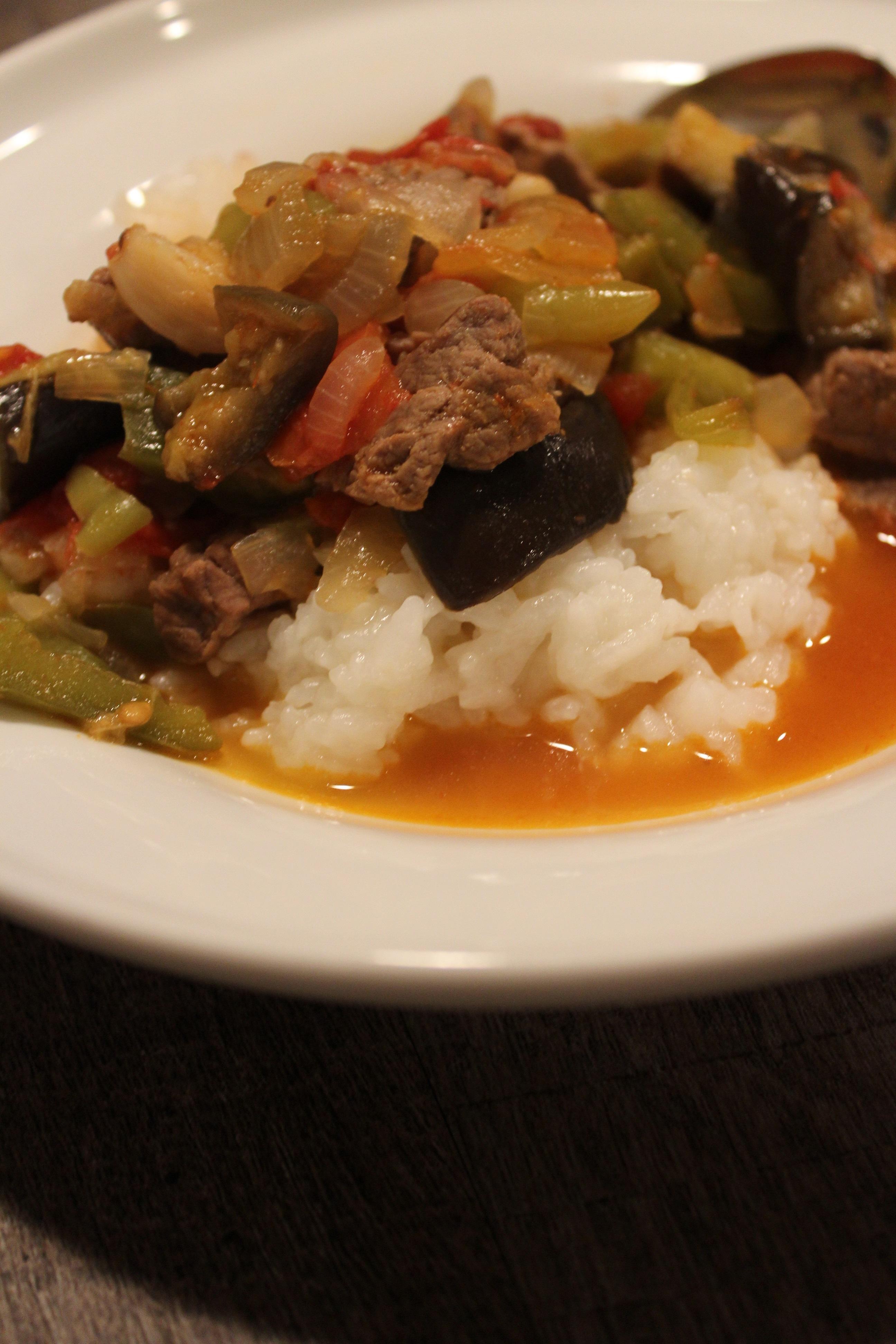 Beefy Eggplant Stew Etli Patlican Yahni